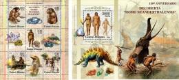 Guinea Bissau 2005 Prehistoric Human Animals Dinosaur Minerals MS+S/S 5313 - Unclassified