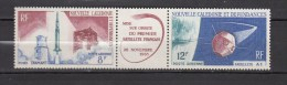 New Caledonia 1965,2V In Triptique,aerospace,ruimtevaart,luft Und Raumfahrt,de L'aérospatiale,MNH/Postfris(D2259)) - Eléphants