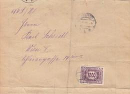 ÖSTERREICH 1924 - 1000 Kronen (Ank124) Porto Auf Gerichts-Faltbrief, Brief Desolat, Marke Gut Erhalten - Strafport