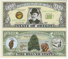 Billet de collection USA NM-134 Oregon State Million Dollars Paper Money Collector unc
