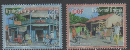 FRENCH POLYNESIA, 2015, MNH, TROPICAL ARCHITECTURE, DAILY SCENES, BICYCLES, FISH, FRUIT, 2v - Architectuur