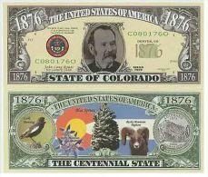 Billet de collection USA NM-136 Colorado State Million Dollars Paper Money Collector unc