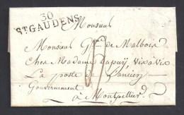 Haute Garonne - Cachet  30 / ST GAUDENS Sur Lettre  De 1813 - Storia Postale