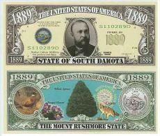 Billet de collection USA NM-137 South Dakota State Million Dollars Paper Money Collector unc
