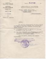 Intendance De La France D'Outre Mer  Demande De Régularisation Du 24 Avril 1952 - Documents