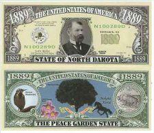 Billet de collection USA NM-139 North Dakota State Million Dollars Paper Money Collector unc