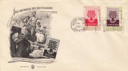 """ARGENTINIEN 1960 - 2 Fach Frankierung Auf Schmuckkuvert """"ANO MUNDIAL DELREFUGIADO"""" Mit Stempel Buenes Aires - FDC"""