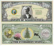 Billet de collection USA NM-141 Washington State Million Dollars Paper Money Collector unc