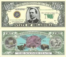 Billet de collection USA NM-145 Oklahoma State Million Dollars Paper Money Collector unc