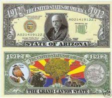Billet de collection USA NM-148 Arizona State Million Dollars Paper Money Collector unc