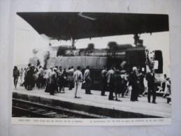 CASTRES (81) LOCOMOTIVE A VAPEUR 141 TD 740 En Gare Le 16 Juin 1985 - Trains
