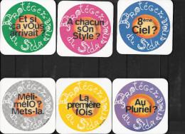 LOT DE 9 SOUS-BOCKS  SUR LE SIDA - Sous-bocks