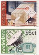 3 Maximumkaarten Enschedé - 1981 Nr. 6 T/m 8 (100 Jaar PTT) - Cartoline Maximum