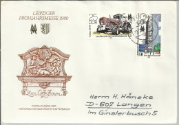 ALEMANIA DDR CC FERIA LEIPZIG 1980 TRACTOR AGRICULTURA UNIVERSIDAD KARL MARX - Agriculture