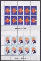 Europa Cept 2006 Kosovo 2v 2 Sheetlets ** Mnh (F4238A) - Europa-CEPT