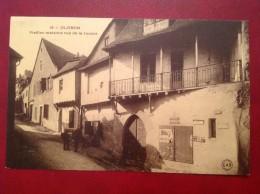 64  OLORON Ste SAINTE MARIE Vieilles Maisons Rue De La Justice (cpa Unique) Animée - Oloron Sainte Marie