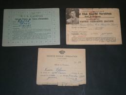 VERVIERS-Sylvain KAISERS- CARTES: Royal Club Sportif Verviertois 53- Sté Emulation 66- RCS Verviertois 1947 - Vieux Papiers