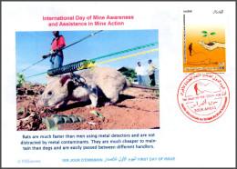 ARGELIA 2014 FDC Landmines Deminer Rats Démineurs Mine  Mines Rat Ratte Deminer Hunde Landminen Deminer Rata - Rongeurs