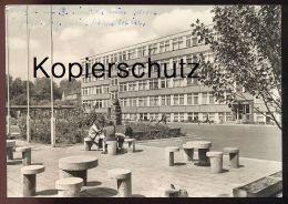 ÄLTERE POSTKARTE BORNA KARL-MARX-OBERSCHULE Schule School école Sachsen Postcard Cpa AK Ansichtskarte - Borna