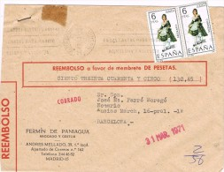 14207. Carta Certificada Contra Reembolso MADRID  1971 - 1931-Aujourd'hui: II. République - ....Juan Carlos I