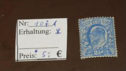 GB   Michel Nr:  107 A  Falz *  #4503 - 1902-1951 (Re)