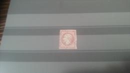LOT 269850 TIMBRE DE FRANCE OBLITERE N�17A VALEUR 65 EUROS LUXE