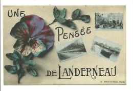 """CPA """"Une Pensée De Landerneau""""(29)   3 Vues - Landerneau"""