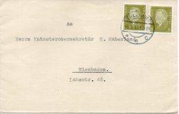 DR Brief TREUBURG/Ostpreußen - WIESBADEN Mit 465 (2) Als MeF - Allemagne
