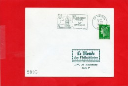 HASNON  (( 670 / 1970  13° Centenaire )) - Marcophilie (Lettres)