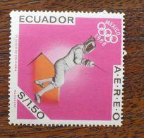 EQUATEUR JEUX OLYMPIQUES 1968, Escrime, 1 Valeur **. MNH - Verano 1968: México