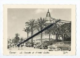 Carte - Cannes - La Croisette Et L'Hôtel Carlton - Voitures,autos Anciennes - Cannes