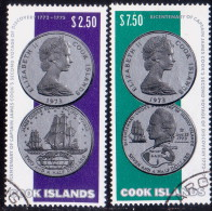 COOK ISLANDS 1974 SG #492-93 Compl.set Used Capt. Cook's Second Voyage Of Discovery - Cook Islands