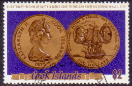 COOK ISLANDS 1975 SG #525 $2 Used Capt. Cook´s Second Voyage - Cook Islands