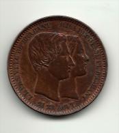 België 1853 10 Cent By Leopold Wiener - 1831-1865: Léopold I