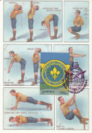 Rumänien 1997 MiNr. 5282, 5283 ; 2 Maximumkarten  Pfadfinder: Zeichensprache, Sportliche Übungen - Maximumkarten (MC)