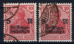 Germany: 1919 Mi Nr 105 A + C Used  Signed/ Signé/signiert/ Approvato - Deutschland