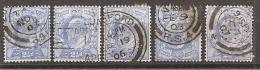 Grossbritannien 1902/1913 - Michel 107 O 5x - 1902-1951 (Re)