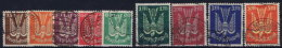Germany: 1922 Mi Nr 210 - 218 Used - Luftpost