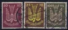 Germany: 1923 Mi Nr 235 - 237 Used - Luftpost