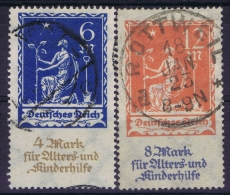 Germany: 1922 Mi Nr 233 - 234 Used - Gebraucht