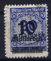 Germany: 1923 Mi Nr 335 B / 335b Used - Gebraucht
