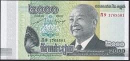 Cambodia 2000 Riels 2013 Pnew UNC - Cambodia
