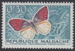 Madagascar 1960 Definitive: Butterfly (Colotis Zoe). Mi 445 MNH - Butterflies
