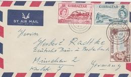 GIBRALTAR LETTRE POUR L'ALLEMAGNE 1957 - Gibraltar