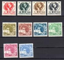 1945 Conférence Guerre Et Paix, UNO O.N.U., 587 / 590* + 602 / 607*, Cote 67,50 €  Hands Mains - Mexiko