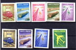 1961 Paraguay En Marche, 593 / 597** + PA270 / 273** N D  BOIS WOOD - Paraguay