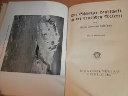 Schweizer Landschaft In Deutscher Malerei , 1924 , F.F. Leitschuh , Harry Maync , Payerne , Freiburg , Zermatt , Mürren - Huiles