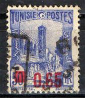 TUNISIA - 1937 - MOSCHEA DI TUNISI CON SOVRASTAMPA IN ROSSO - 65 SU 50 C. - USATO - Tunisie (1888-1955)