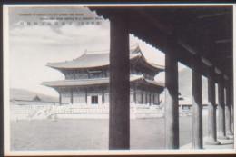 KOREA NORD POSTCARD KINSEIDEN IN KEIFUKU PALACE WHERE THE GRAND CEREMONIES WERE SERVED IN LI DYNASTY, KELIO. - Korea (Nord)