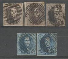 Belgique - Médaillons N°6(2)+7(1)+10A(1)+11(1) Obl. P68 LA LOUVIERE - 1849-1865 Médaillons (Autres)